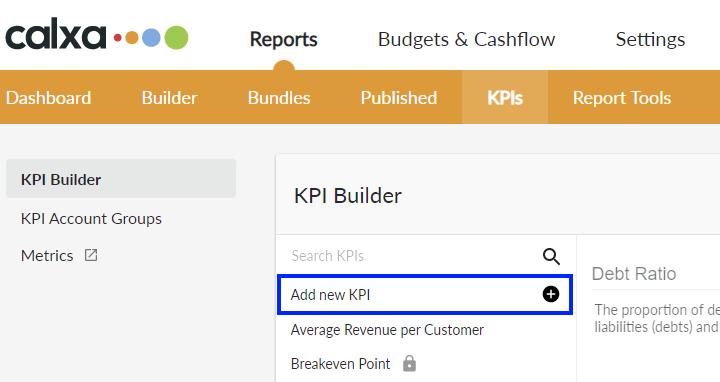 Add new KPI