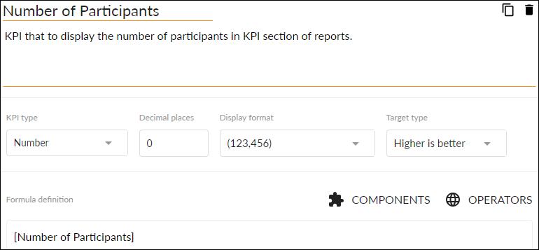 Number of Participants KPI