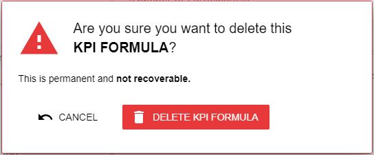 Delete KPI formula