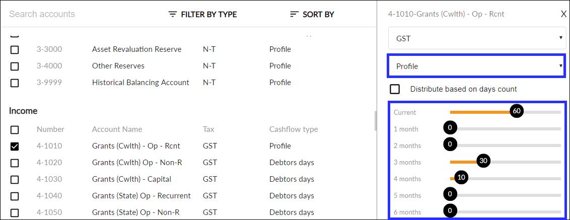 Profile cashflow type