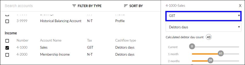Edit Tax code