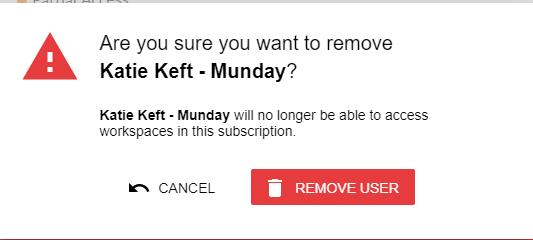 Confirmation - Remove User