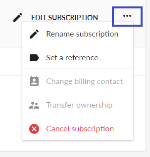 Rename subscription and set a reference