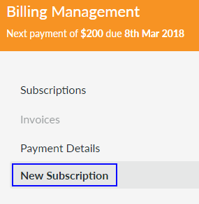 Select New Subscription